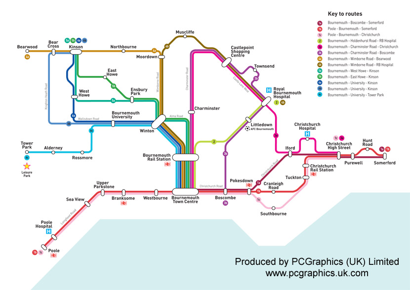 schematic map  | pcgraphics.uk.com